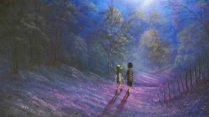 Night Tree Walking 3840x2160 Wallpaper