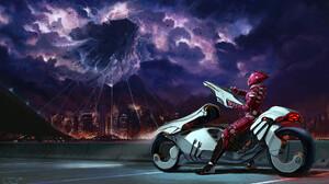 Alien City Cloud Futuristic Space Invasion Vehicle Warrior Weapon 1920x1080 Wallpaper