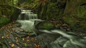 Nature Rock Stream Waterfall 2048x1273 Wallpaper