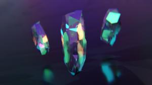 Render Abstract Crystal Digital Colorful Blender 2560x1440 Wallpaper