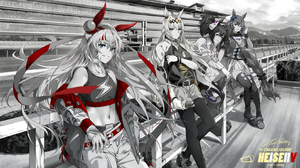 Anime Anime Girls Monochrome Uma Musume Pretty Derby Super Creek Uma Musume Inari One Uma Musume Ogu 1700x938 Wallpaper