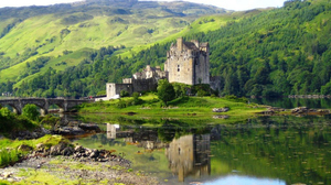 Man Made Eilean Donan Castle 1920x1200 Wallpaper