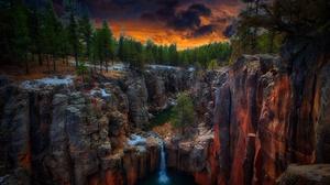 Sycamore Canyon Arizona USA Rock Rock Formation Canyon Waterfall Nature 2560x1623 Wallpaper