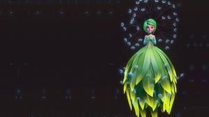 Fairy Girl Green Eyes Green Hair Short Hair Woman 3328x2079 Wallpaper