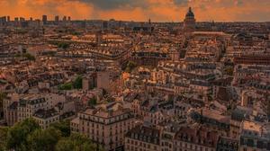 City Cityscape France Paris Sunset 5120x2836 wallpaper
