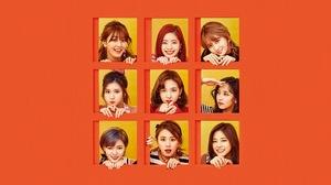 Twice K Pop Collage Smiling Orange Yellow Red Lipstick 1920x1080 Wallpaper