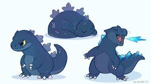 Chibi Kaiju Godzilla Monsterverse Cute Monster 2048x1152 Wallpaper