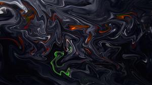 Abstract Fluid Liquid Colorful Artwork Digital Art Shapes Paint Brushes 8 K 7680x4320 Wallpaper