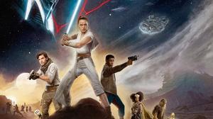 Chewbacca Finn Star Wars Millennium Falcon Poe Dameron Rey Star Wars Star Wars Star Wars The Rise Of 3106x1746 wallpaper