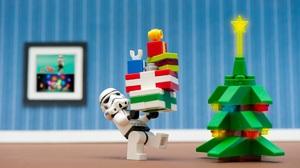 Christmas Christmas Tree Gift Lego Star Wars Stormtrooper 1920x1172 Wallpaper