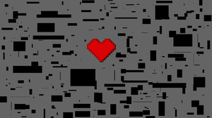 Heart 8 Bit Pixel 1920x1200 Wallpaper
