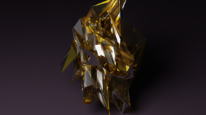 Low Poly Polygon Art Abstract Gold Blender 3840x2160 Wallpaper