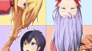 Gabriel Dropout Anime Girls 2D School Uniform JK Messy Hair Long Hair Short Hair Open Mouth Ahoge Ha 2000x2000 Wallpaper