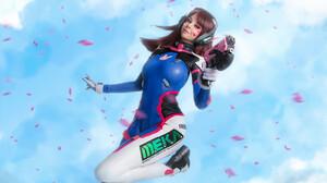 Cosplay D Va Overwatch Girl Headphones Model Overwatch Weapon Woman 2560x1703 Wallpaper