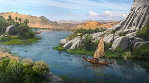 Nile River Ship 1920x1080 Wallpaper
