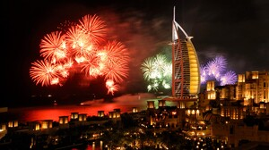 City Colorful Colors Dubai Fireworks 4252x2835 wallpaper