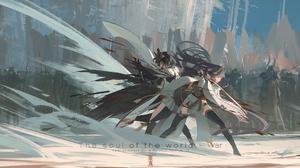 Raiden Shogun Genshin Impact Kujou Sara Genshin Impact Genshin Impact Artwork Void 0 Japanese Clothe 4325x1440 Wallpaper