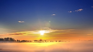 Field Morning Nature Sky Sunrise 3000x1925 Wallpaper