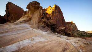 Nature Sky Rocks Plants Rock Formation Capitola Utah USA 1920x1080 Wallpaper