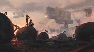 Boy Child Futuristic Vehicle 3464x1732 Wallpaper