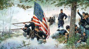 Civil War Battle Little Round Top Joshua Lawrence Chamberlain 20th Maine 1400x870 Wallpaper