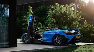 McLaren 765LT McLaren Car Vehicle Supercars Blue Cars 3840x2160 Wallpaper