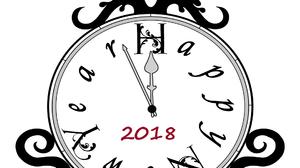 Black Amp White Clock New Year 2018 1920x1536 Wallpaper