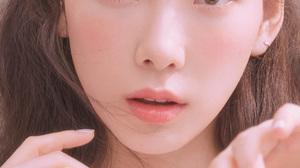 Korean K Pop Women Portrait Photography Red Lipstick Kim Taeyeon SNSD SNSD Taeyeon Looking At Viewer 1242x2208 Wallpaper