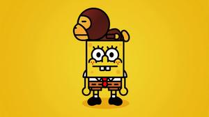 Minimalist Spongebob Squarepants 3840x2400 wallpaper