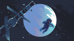 Space Digital Art Astronaut Satellite 3840x2160 Wallpaper