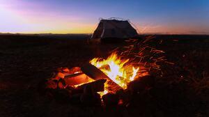 Campfire Fire Flame 8192x5461 Wallpaper