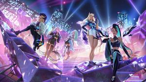 League Of Legends Kda Riot Games Ahri Ahri League Of Legends Evelynn Evelynn League Of Legends Serap 1920x1080 Wallpaper