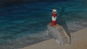 Blender 3D Graphics Lighthouse Minimalism 1920x1080 Wallpaper