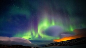 Aurorae Landscape Skyscape Winter Nordic Landscapes 2048x1365 Wallpaper