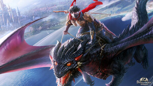 Seunghee Lee Drawing Men Warrior Weapon Sword Mask Riding On Back Dragon Fantasy Art Scales Wings Fl 2611x1480 Wallpaper