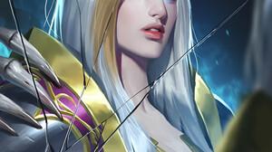 Herbie Wang Artwork Women Fantasy Art Fantasy Girl Mirror Broken Glass Blonde Aqua Eyes Long Hair Wh 1000x1414 Wallpaper
