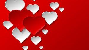 Artistic Heart Red White 1920x1536 Wallpaper
