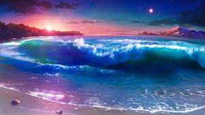 Beach Cloud Evening Mountain Sky Sunset Wave 2229x1346 Wallpaper