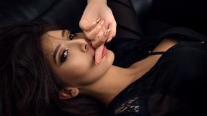 Black Hair Brown Eyes Girl Model Woman 2500x1669 wallpaper