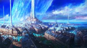 Video Games Final Fantasy XVi Crystal Castle Sky River Boat Video Game Art Digital Art 3840x2160 Wallpaper