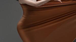 Asian Simple Background Dark Hair Portrait Display Women Digital Art Artwork CGi 3D Vertical ArtStat 1920x3413 Wallpaper