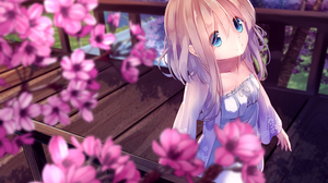 Anime Anime Girls Artwork Digital Art Brunette Long Hair Blue Eyes Bangs White Dress Walking Night C 1500x1061 Wallpaper