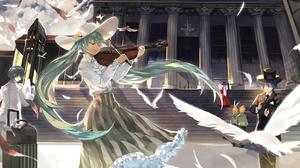 Hatsune Miku Violin 1698x1080 Wallpaper