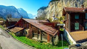 Lauterbrunnen Switzerland 2560x1309 wallpaper