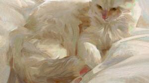 DannyLaiLai Artwork Cats Animals Mammals Feline 1920x1920 Wallpaper