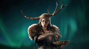 Assassins Creed Valhalla Assassins Creed Horns Sky Nordic Vikings Tattoo Necklace 7680x4320 Wallpaper