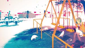Artwork Playground Cats 2084x936 Wallpaper