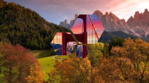 Blur Bridge Mountain Polyscape 3840x2160 Wallpaper