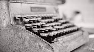 Black Amp White Close Up Typewriter 6016x4016 Wallpaper