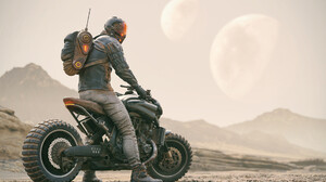 Futuristic Motorcycle Vehicle 1920x1344 wallpaper